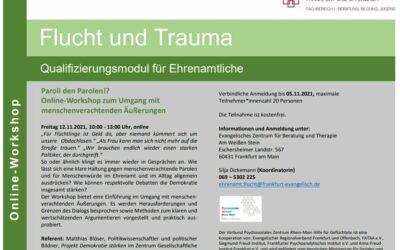 Paroli den Parolen!? Online Workshop zum Umgang mit menschenverachtenden Äußerungen
