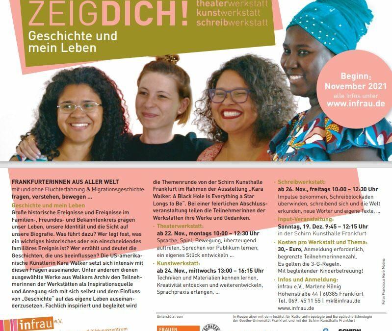 """INFRAU e.V.: Neue Veranstaltungsreihe für Frauen zum Thema """"Geschichte und mein Leben"""""""